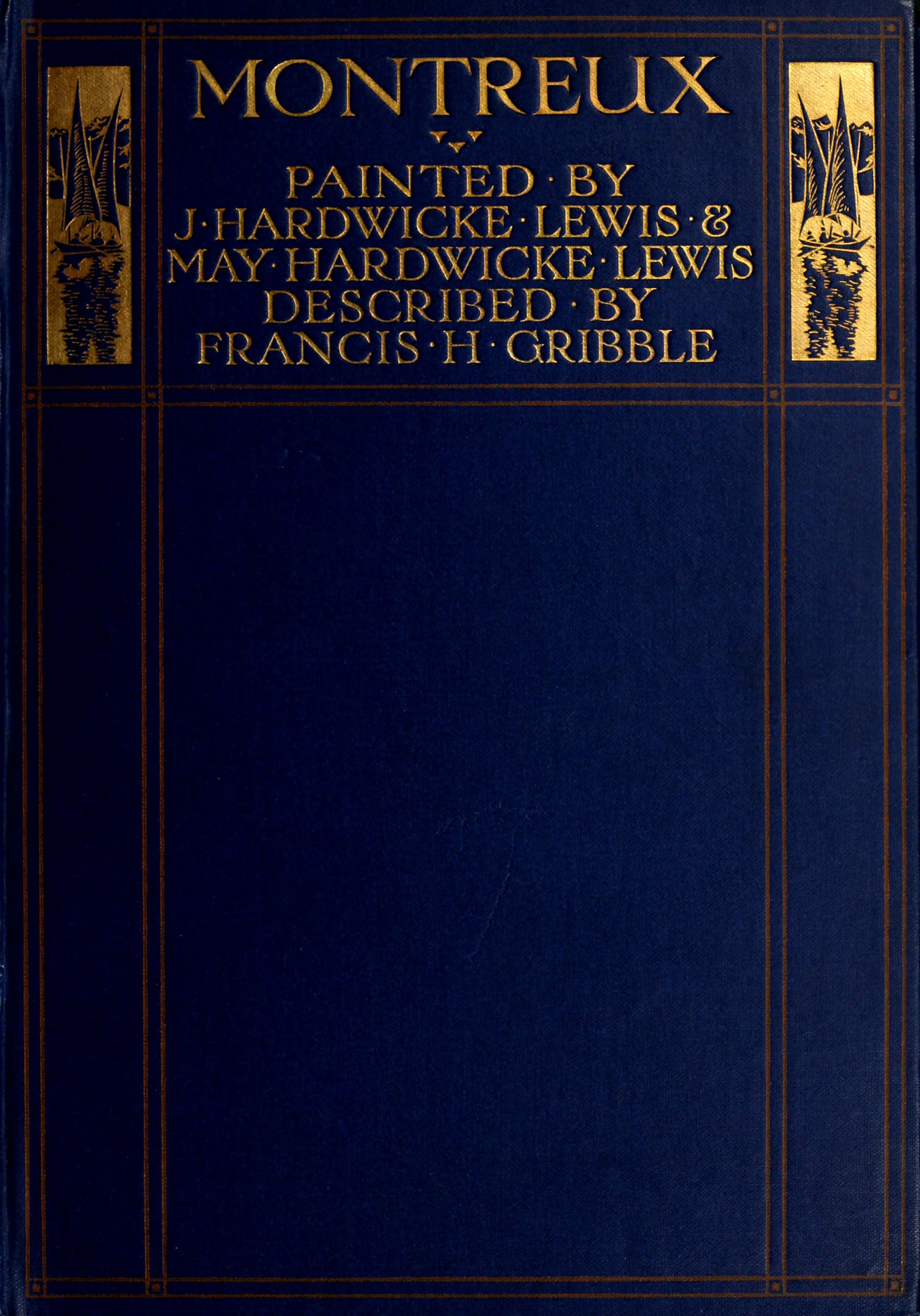 Montreux, Painted and Described - Front Cover (1908)