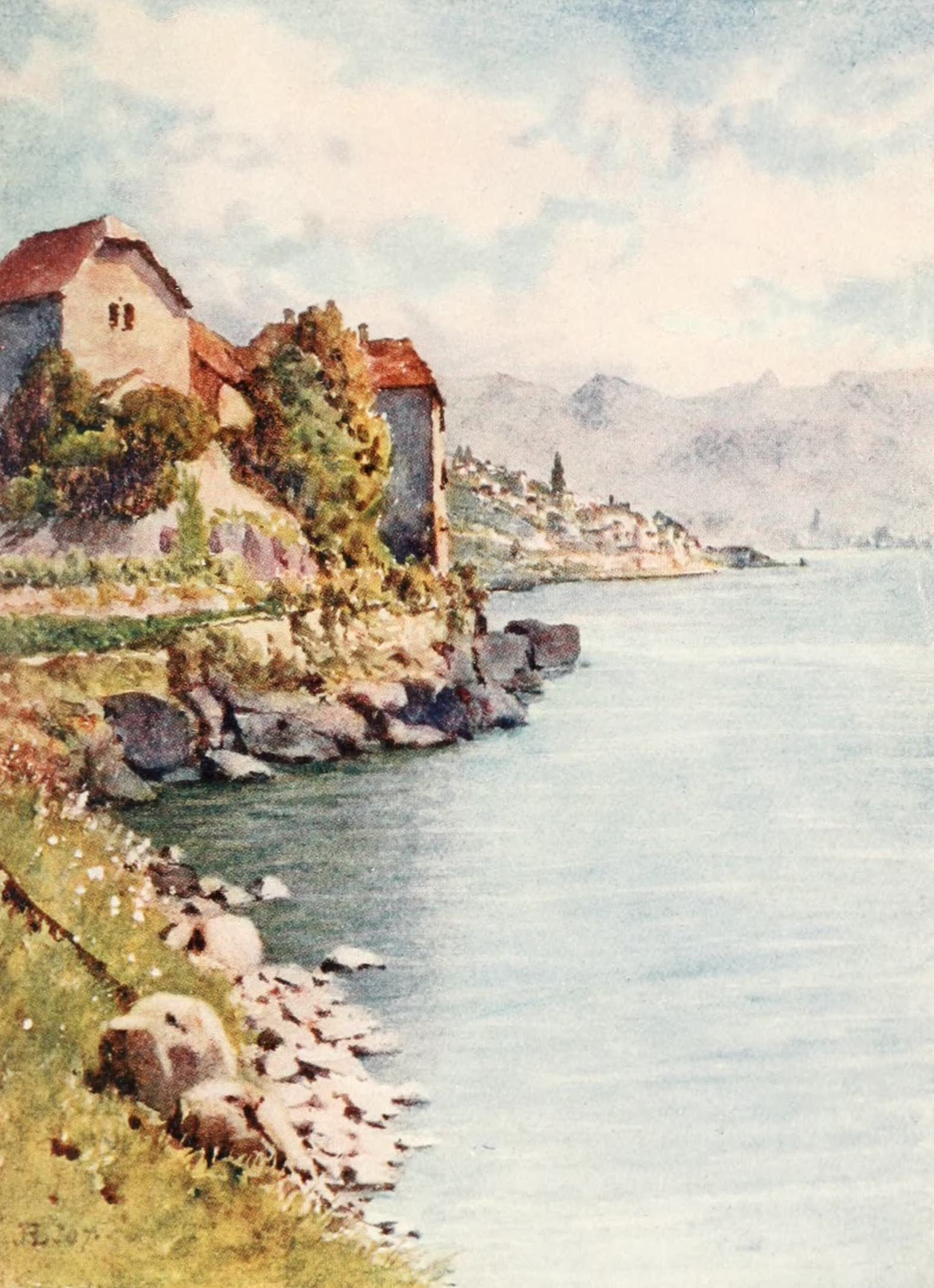 Montreux, Painted and Described - The Chateau Glerolles and St. Saphorin (1908)