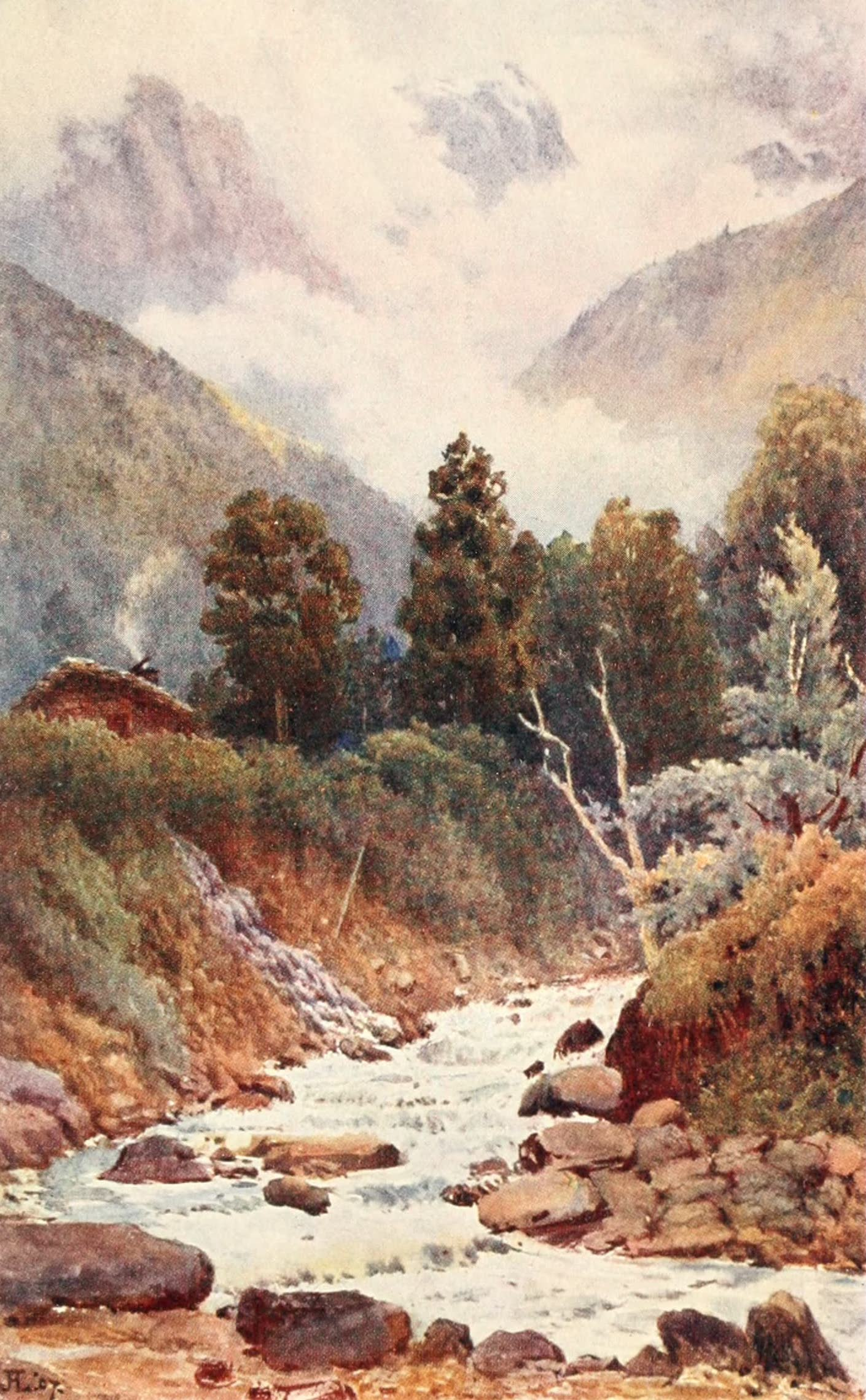 Montreux, Painted and Described - The River Morges at St. Gingolph (1908)