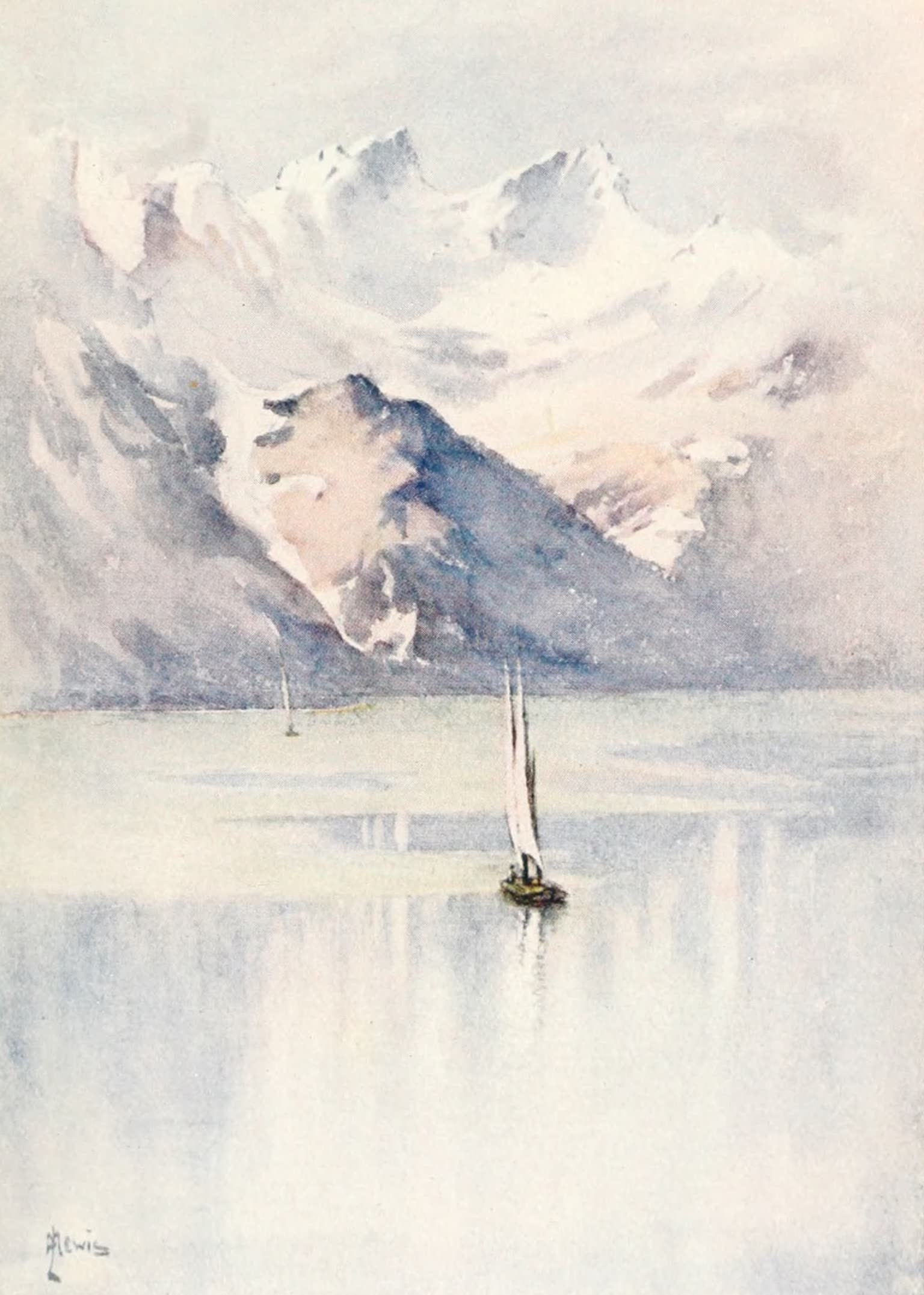 Montreux, Painted and Described - The Dents d'Oche, Savoy Alps (1908)