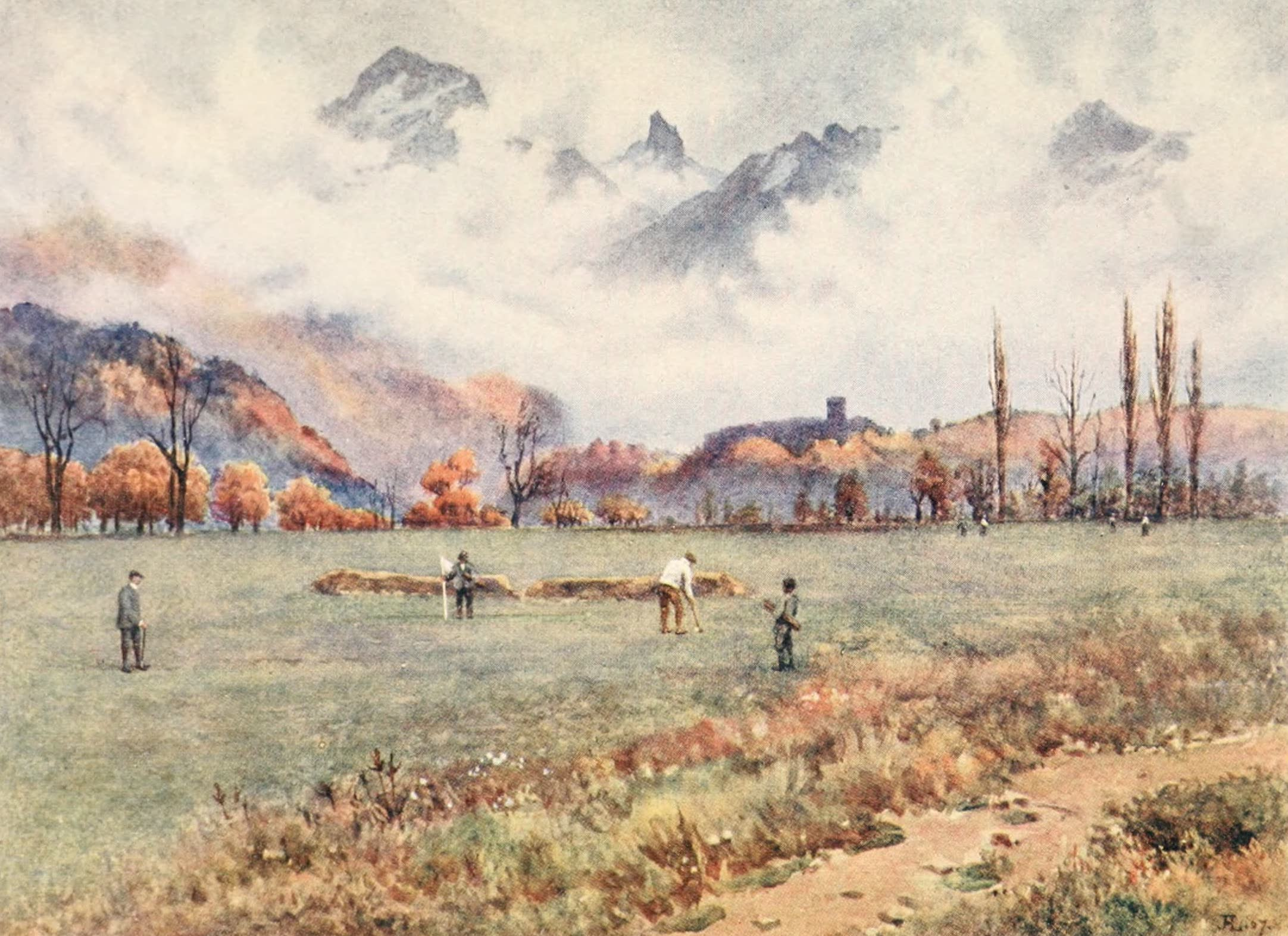 Montreux, Painted and Described - Montreux Golf Club Links at Aigle (1908)