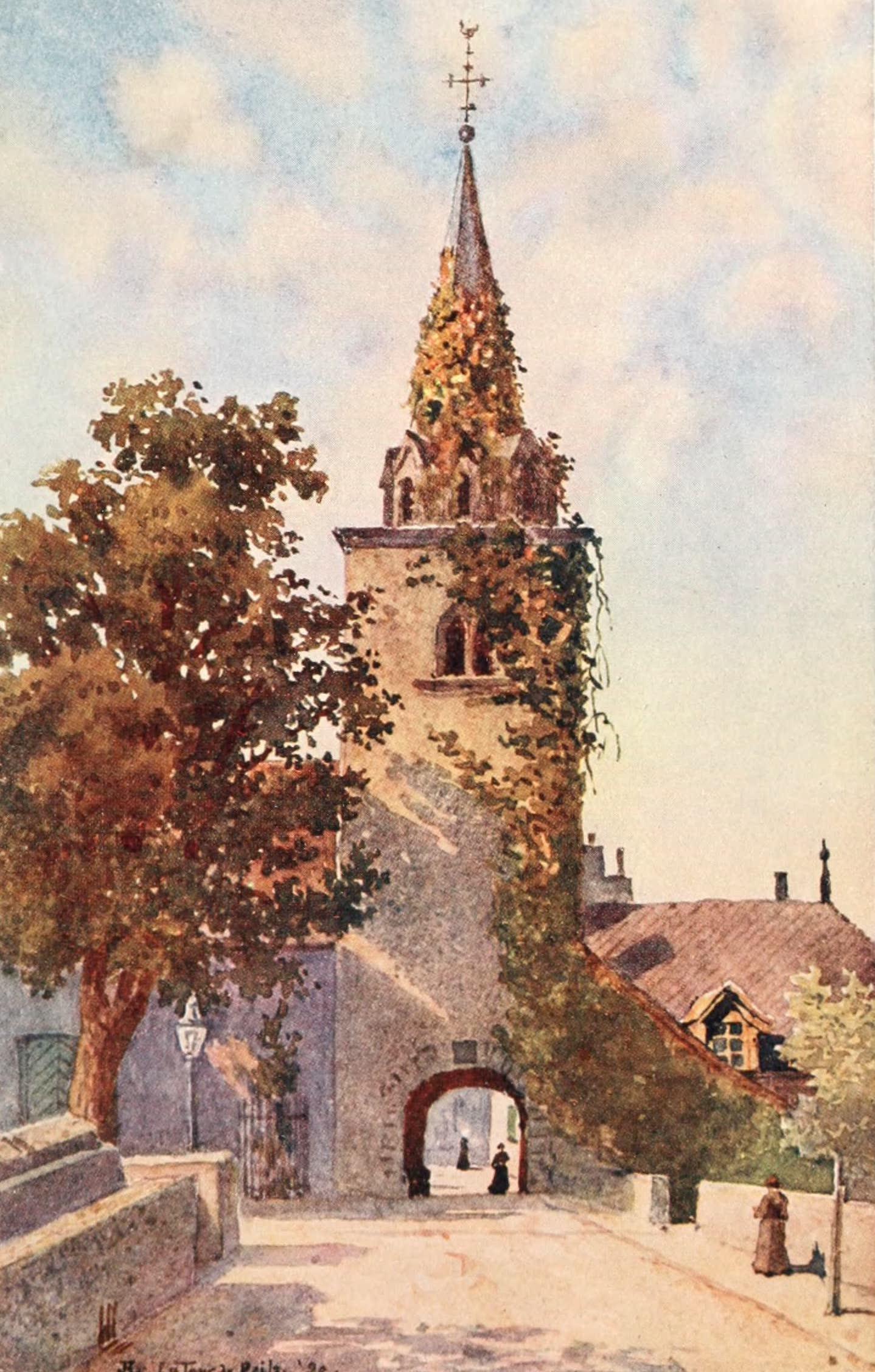 Montreux, Painted and Described - The Old Church at La Tour de Peilz (1908)