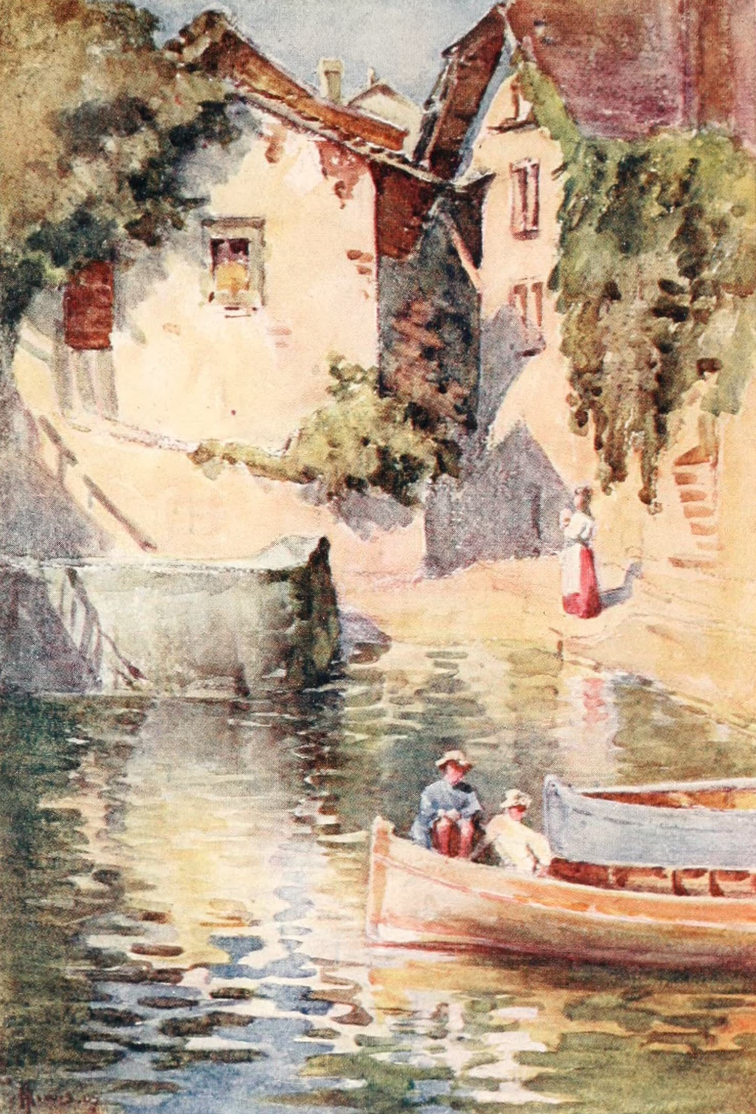 Montreux, Painted and Described - St. Saphorin (1908)