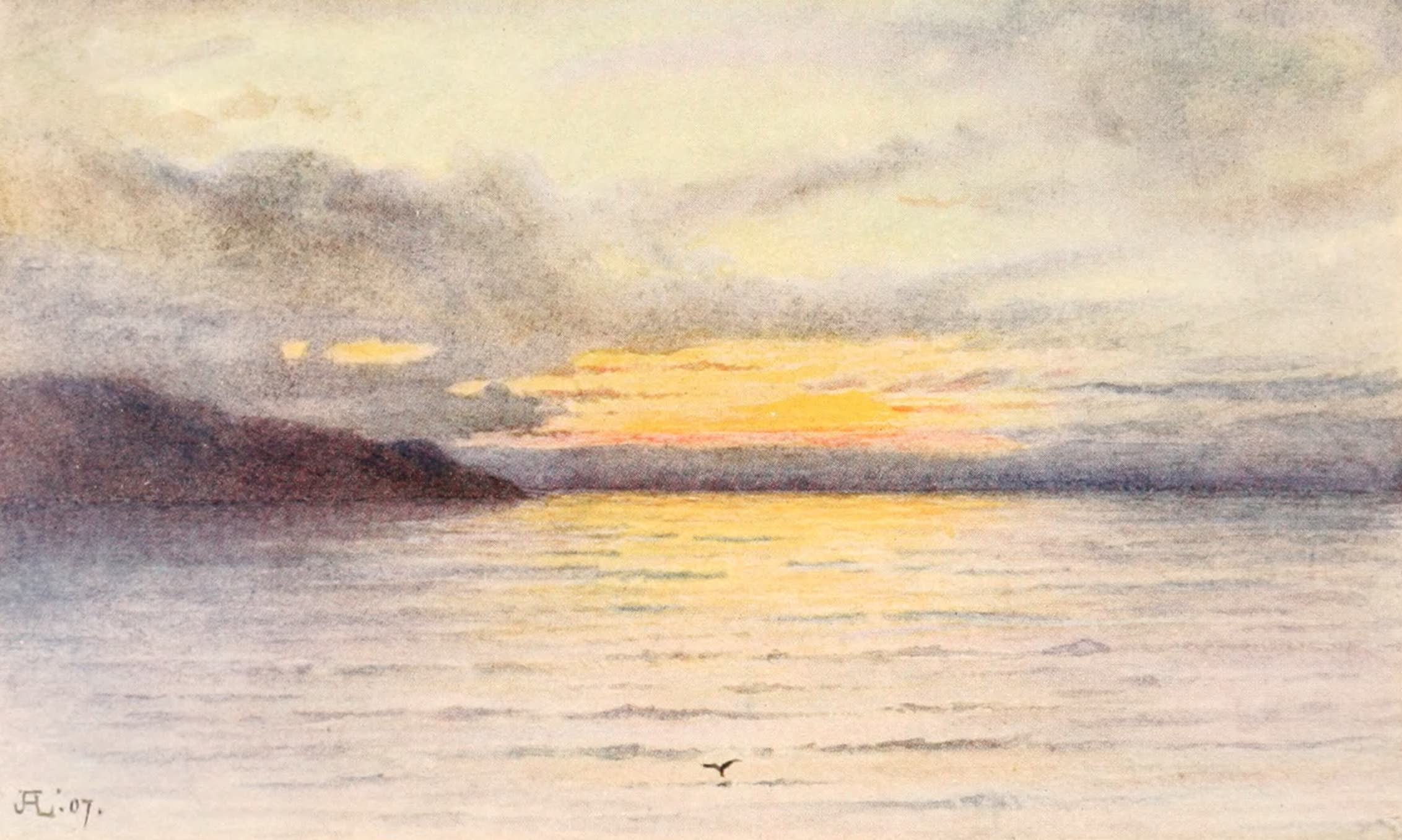 Montreux, Painted and Described - Sunset on the Lake (1908)