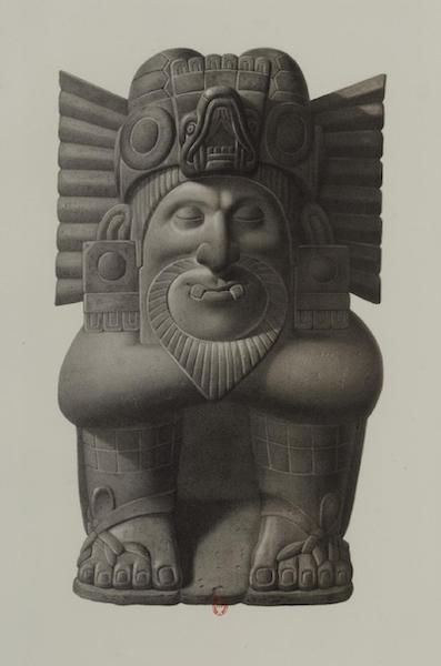 Monuments anciens du Mexique - Pt. IV - Statue demi-grandeur en basalte, la plus parfaite que j'aie vue et dessinee (1866)