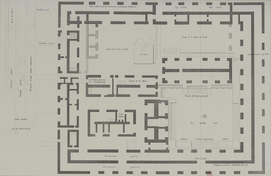 Monuments anciens du Mexique - Pt. VII - [Plan de la palais de Palenque] (1866)