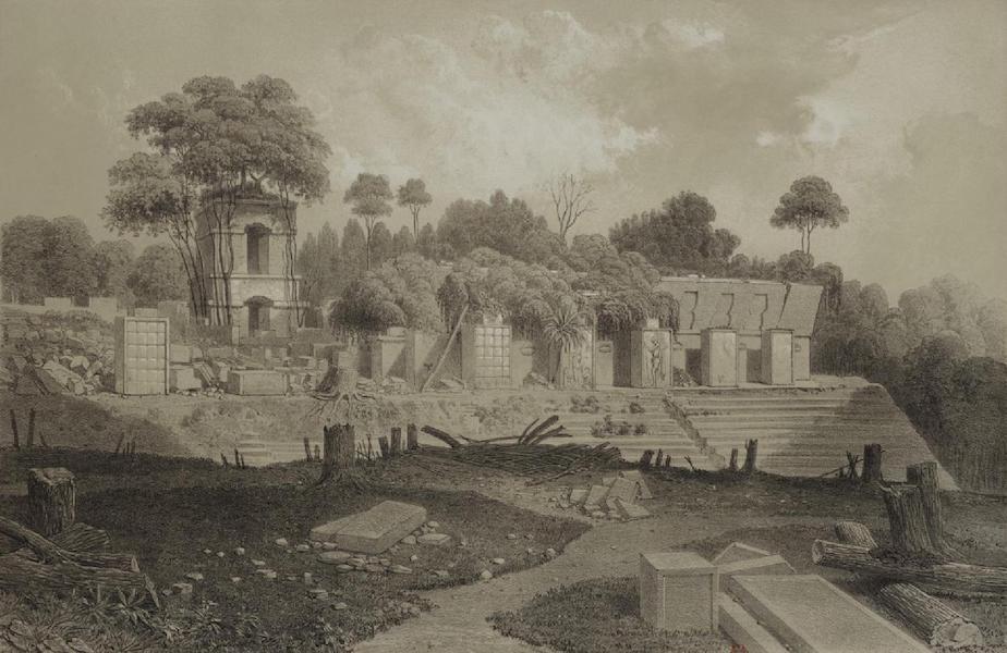 Monuments anciens du Mexique - Pt. VIII - Vue pittoresque du palais, prise de ma cabane situee sur le plateau oppose (1866)
