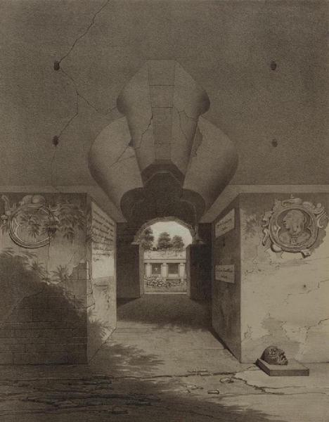 Monuments anciens du Mexique - Pt. IX (droite) Vue en perspective de la porte de style moresque (1866)