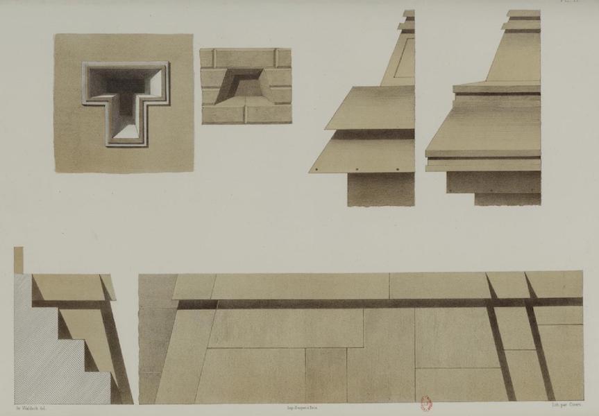 Monuments anciens du Mexique - Pt. XI - Cette coupe montre la forme des galeries fermees pyramidalement pa le haut (1866)