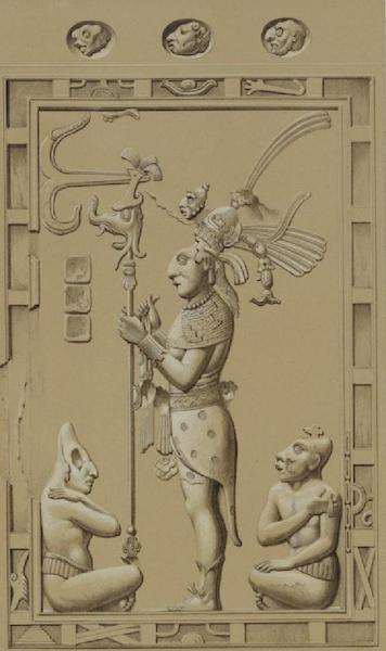 Monuments anciens du Mexique - Pt. XII (guache) - Relief en stuc, marque 21 sans le plan du palais (1866)