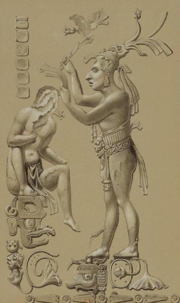 Monuments anciens du Mexique - Pt. XII (droite) - Relief en stuc, sans couleurs (1866)