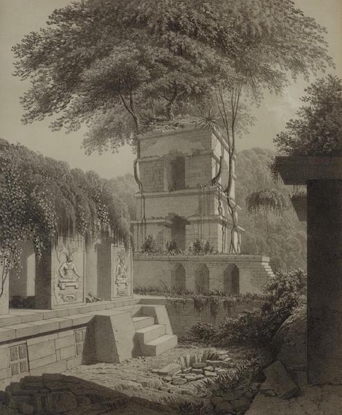 Monuments anciens du Mexique - Pt. XVIII - Vue pittoresque de la tour, prise de la galerie interieure du nord (1866)