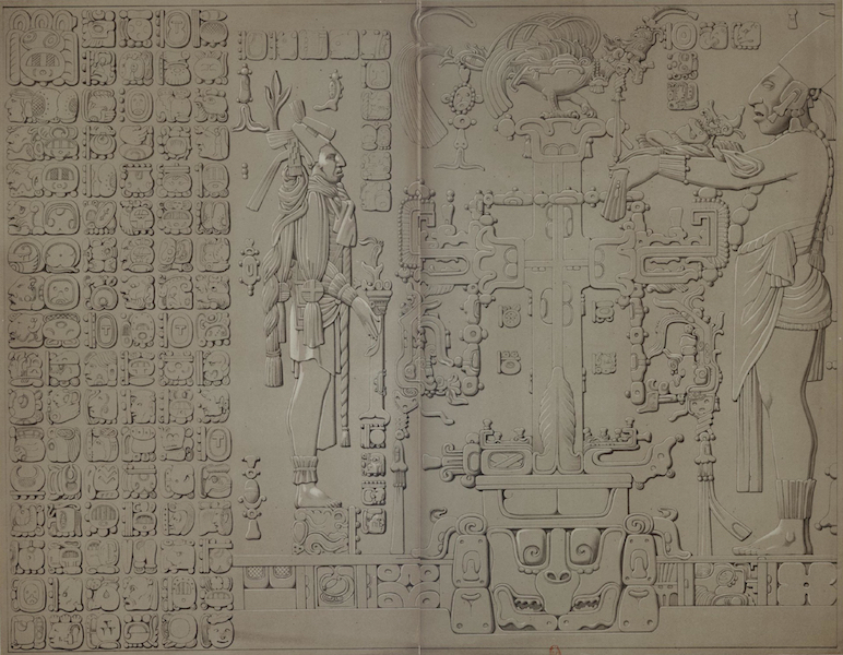 Monuments anciens du Mexique - Pt. XXI et XXII - Pierre du centre du relief dee la croix (1866)