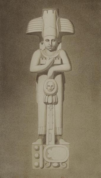 Monuments anciens du Mexique - Pt. XXV - Statue ou cariatide en pierre (1866)