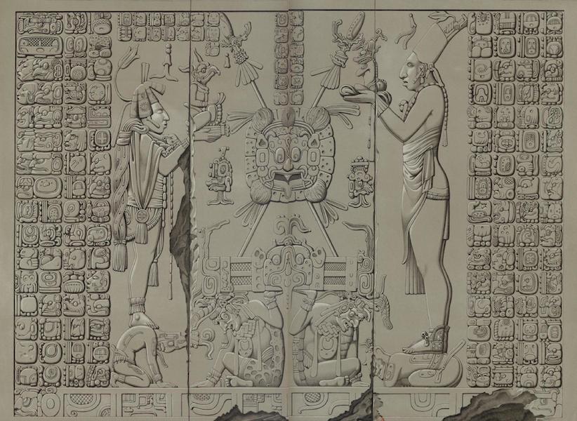 Monuments anciens du Mexique - Pt. XXIX et XXX - Bas-relief du sanctuaire de l'edifice dit Temple du Soleil (1866)