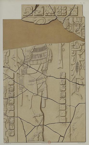 Monuments anciens du Mexique - Pt. XXXI et XXXII - Relief en pierre de l'edifice dit Temple du Soleil, tous deux mutiles [I] (1866)