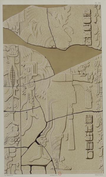 Monuments anciens du Mexique - Pt. XXXI et XXXII - Relief en pierre de l'edifice dit Temple du Soleil, tous deux mutiles [II] (1866)