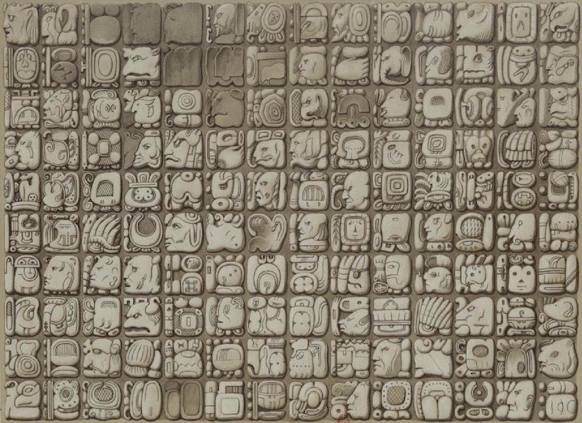 Monuments anciens du Mexique - Pt. XXXVIII - Petite table de la chambre au fond (1866)
