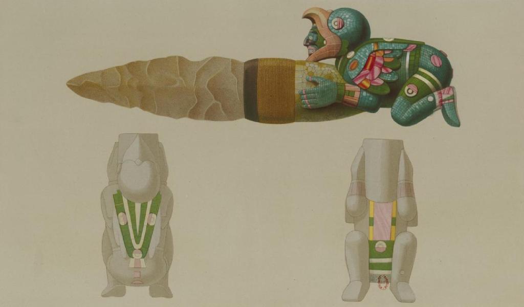 Monuments anciens du Mexique - Pt. XLIV - Couteau en silex (1866)