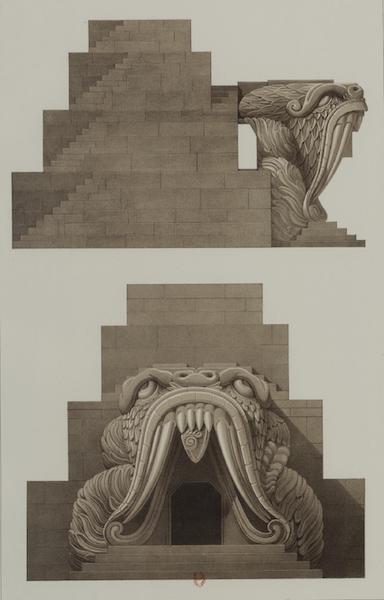 Monuments anciens du Mexique - Pt. XLV - Modele d'une terre cuite peinte, representeant un temple (1866)