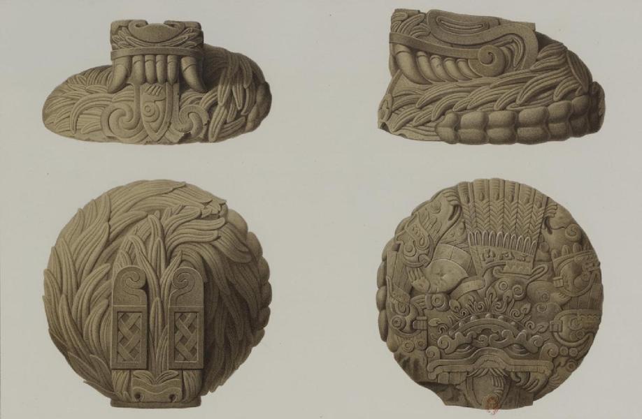 Monuments anciens du Mexique - Pt. XVLIII - Quetzalcohuatl en pierre, du Musee de Mexico (1866)