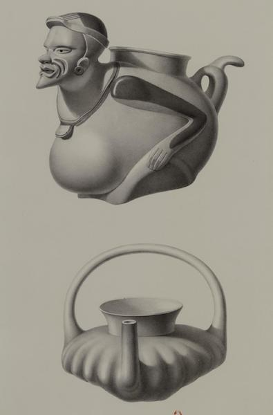 Monuments anciens du Mexique - Pt. XLIX - Deux vases en terre cuite, du Musee de Mexico (1866)