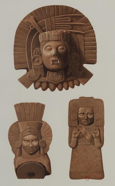 Monuments anciens du Mexique - Pt. L - Deux terres cuites trouvees a Palenque (1866)