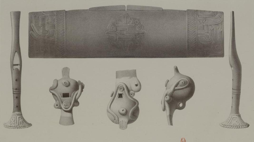Monuments anciens du Mexique - Pt. LVI - Instruments de musique des Mexicains (1866)