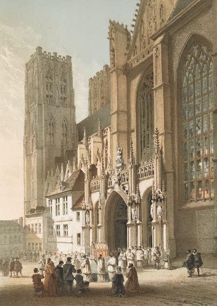 Monuments d'Architecture et de Sculpture en Belgique Vol. 1 - Portail Lateral de l'Eglise de Ste. Gudule a Bruxelles (1860)