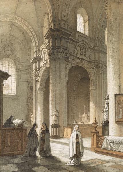Monuments d'Architecture et de Sculpture en Belgique Vol. 1 - Interieur de l'Eglise du Beguinage a Bruxelles (1860)