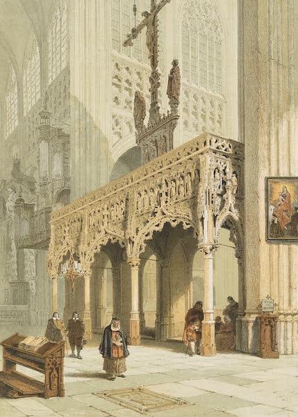 Monuments d'Architecture et de Sculpture en Belgique Vol. 1 - Jube de l'Eglise St. Pierre a Louvain (1860)