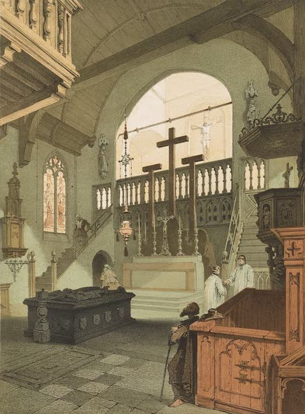 Monuments d'Architecture et de Sculpture en Belgique Vol. 1 - Interieur de l'Eglise de Jerusalem a Bruges (1860)