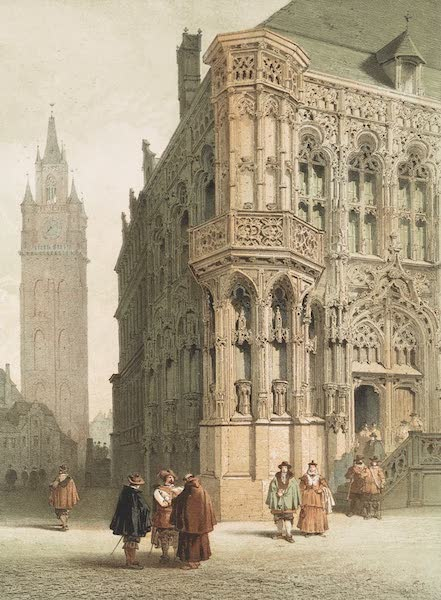 Monuments d'Architecture et de Sculpture en Belgique Vol. 1 - L'Hotel de Ville, a Gand (1860)