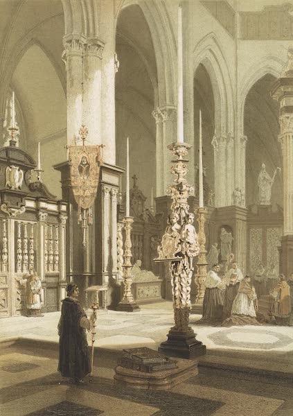 Monuments d'Architecture et de Sculpture en Belgique Vol. 1 - Interieur du Choeur de l'Eglise St. Bavon a Gand (1860)