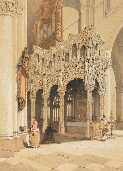 Monuments d'Architecture et de Sculpture en Belgique Vol. 1 - Jube de l'Eglise de Dixmude (1860)