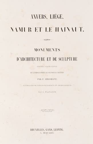 Monuments d'Architecture et de Sculpture en Belgique Vol. 2 (1860)