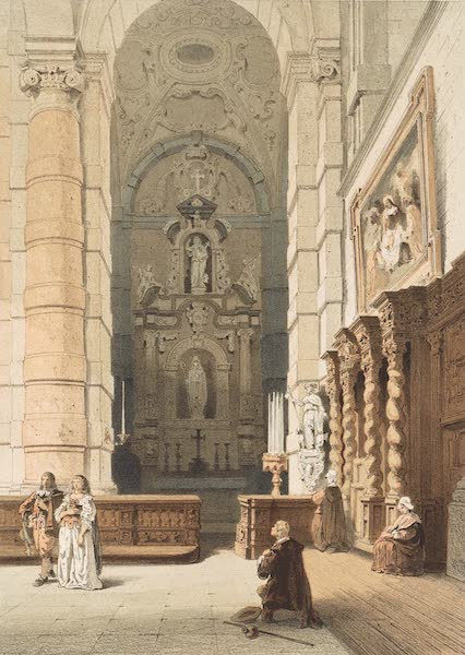 Monuments d'Architecture et de Sculpture en Belgique Vol. 2 - Interieur de l'Eglise St. Loup a Namur (1860)