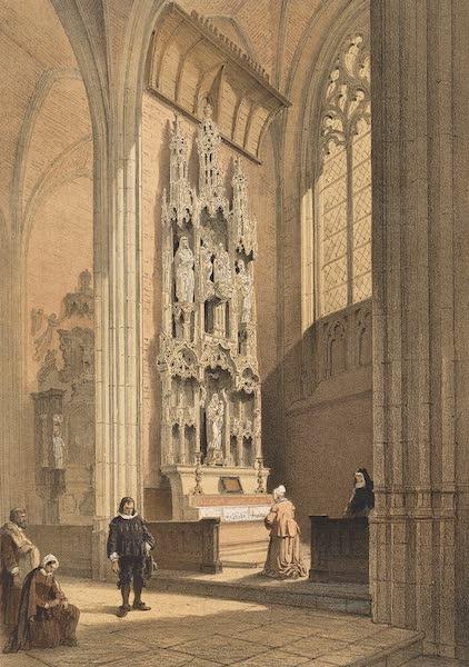 Monuments d'Architecture et de Sculpture en Belgique Vol. 2 - Autel dans l'Eglise de Ste. Waudru a Mons (1860)