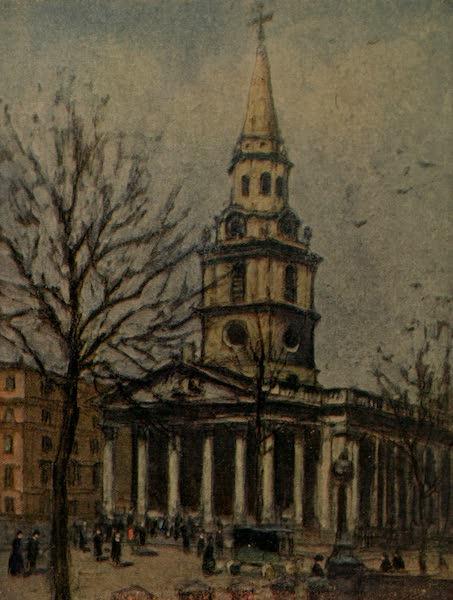More Wanderings in London - St. Martin's-in-the-Fields, Trafalgar Square (1916)