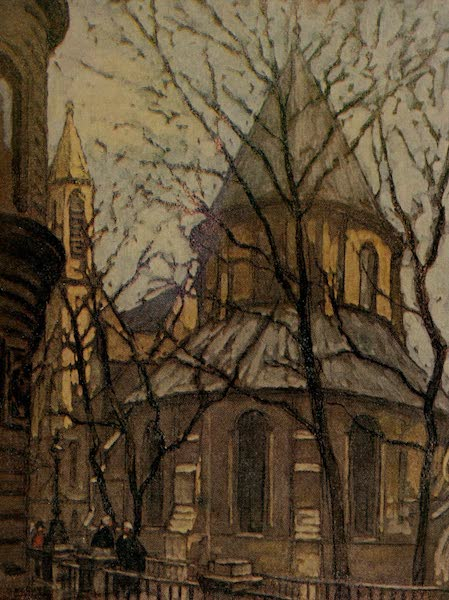 More Wanderings in London - The Temple Church, from Johnson's Buildings (1916)