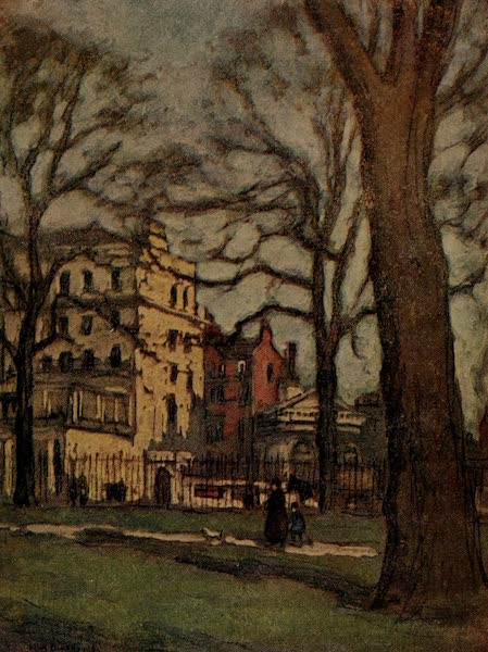 More Wanderings in London - A Mansion in Park Lane, from Hyde Park (1916)