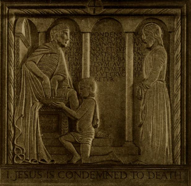 More Wanderings in London - Jesus is Condemned to Death (The Stations of the Cross, I). Eric Gill (Westminster Cathedral) (1916)