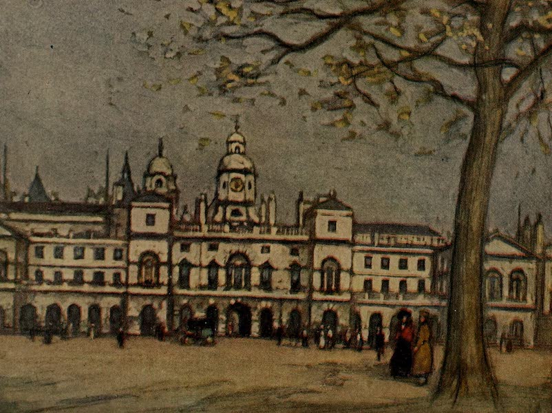 More Wanderings in London - The Horse Guards, from St. James's Park (1916)