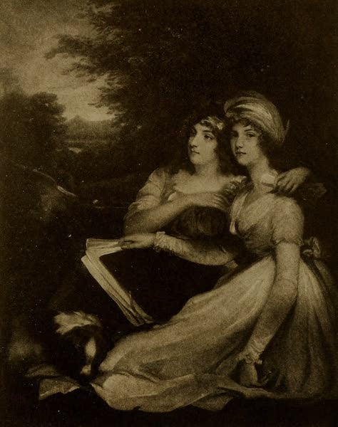 More Wanderings in London - The Sisters. Hoppner (The Tennant Gallery). From a photograph by the Medici Society (1916)