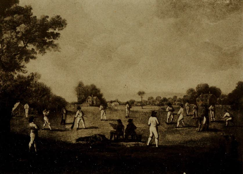 More Wanderings in London - A Cricket Match at Chertsey. George Morland (Surrey County Cricket Club Pavilion) (1916)