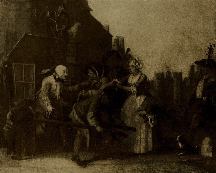 More Wanderings in London - The Rake's Progress(Arrested for Debt). W. Hogarth (Soane Museum) (1916)