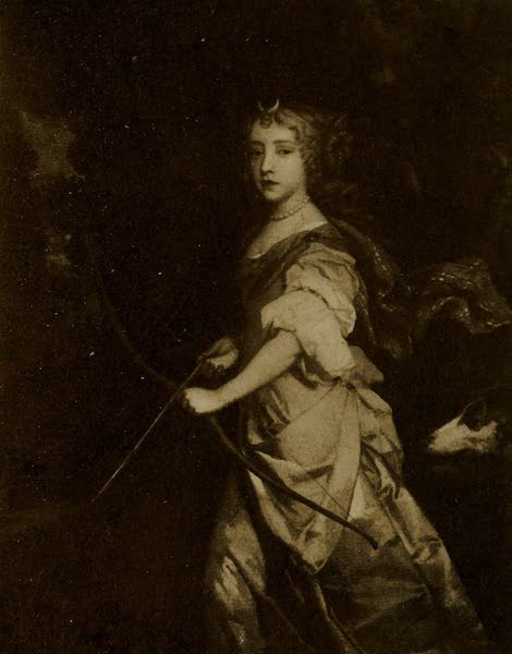 More Wanderings in London - Princess Mary as Diana. Sir Peter Lely (Hampton Court). From a photograph by W. A. Mansell & Co (1916)