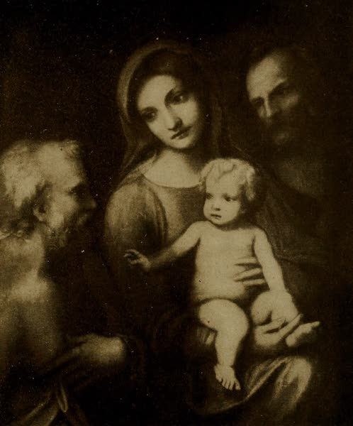 More Wanderings in London - The Holy Family with S. James. Correggio (Hampton Court). From a photograph by W. A. Mansell & Co (1916)
