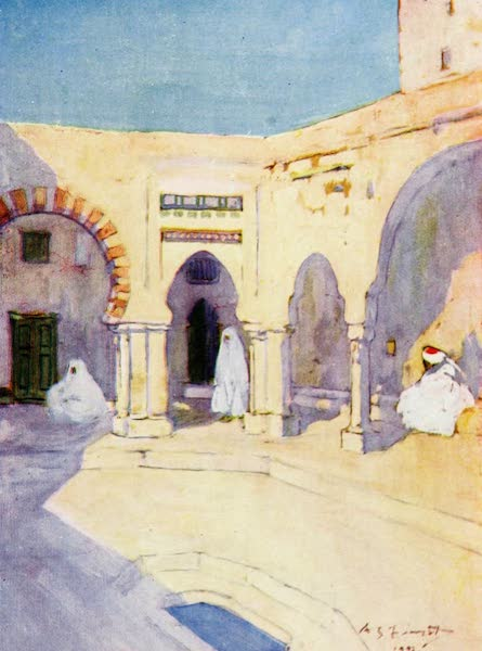 Morocco, Painted and Described - The Courtyard of the Lighthouse, Cape Spartel (1904)