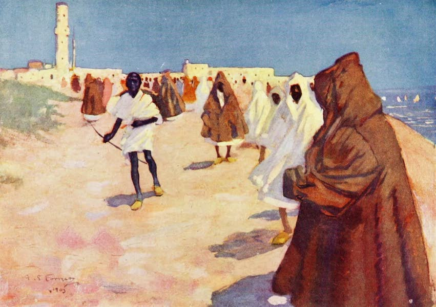 Morocco, Painted and Described - A Street in Tangier (1904)